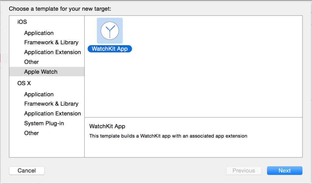 WatchKit App Creation