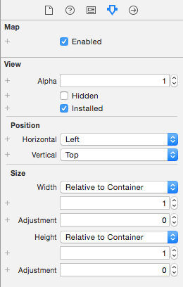Map Attributes Inspector